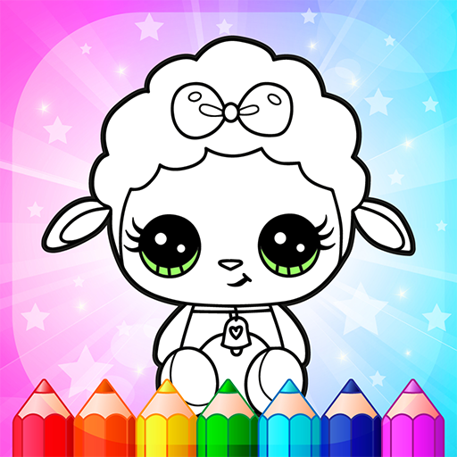Flower Magic Color-kids coloring book with animals  (Unlimited money,Mod) for Android 3.8
