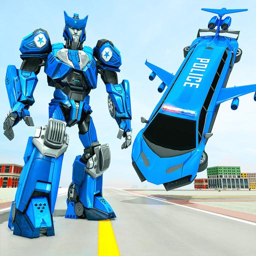 Flying Limo Robot Car Transform: Police Robot Game  (Unlimited money,Mod) for Android 1.0.14