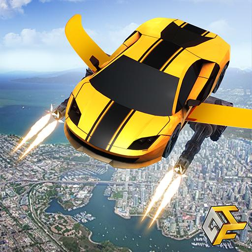 Flying Robot Car Games – Robot Shooting Games 2020  (Unlimited money,Mod) for Android 2.1
