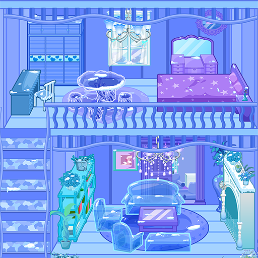 Frozen Dollhouse Design,Ice Dollhouse for girls  (Unlimited money,Mod) for Android 1.2.8