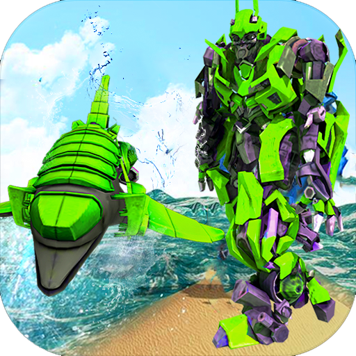 Futuristic Robot Dolphin City Battle – Robot Game  (Unlimited money,Mod) for Android 1.6