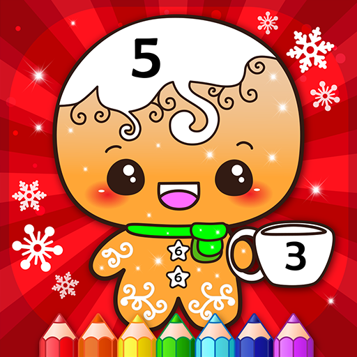 Happy Kids Christmas Coloring Book By Numbers  (Unlimited money,Mod) for Android 2.4