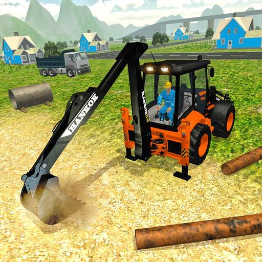 Heavy Excavator Crane Simulator Construction Games  (Unlimited money,Mod) for Android 1.1
