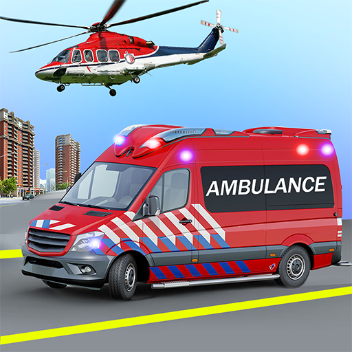 Heli Ambulance Simulator 2020: 3D Flying car games  (Unlimited money,Mod) for Android 1.15