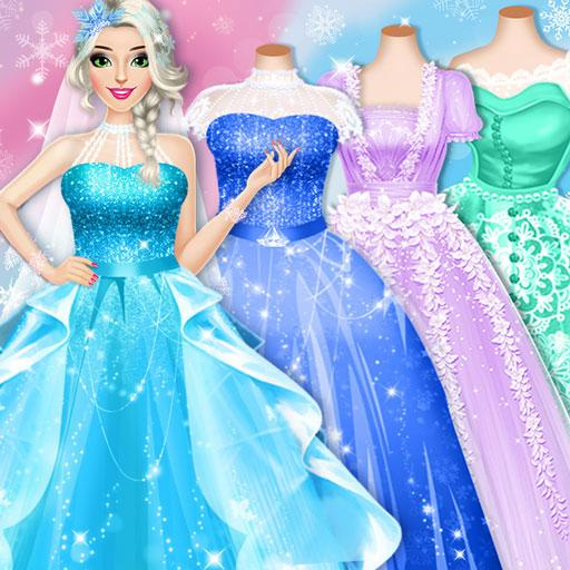 Ice Princess Wedding Dress Up Stylist  (Unlimited money,Mod) for Android 0.11