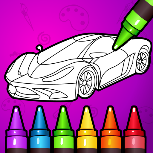 Learn Coloring & Drawing Car Games for Kids  9.0 (Unlimited money,Mod) for Android