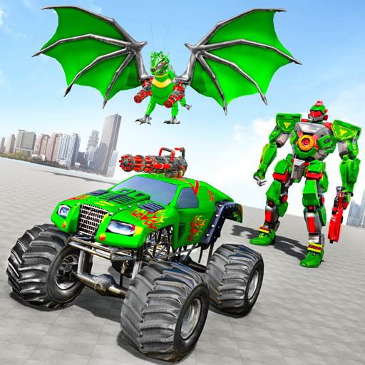 Monster Truck Robot Wars – New Dragon Robot Game  1.1.5 (Unlimited money,Mod) for Android