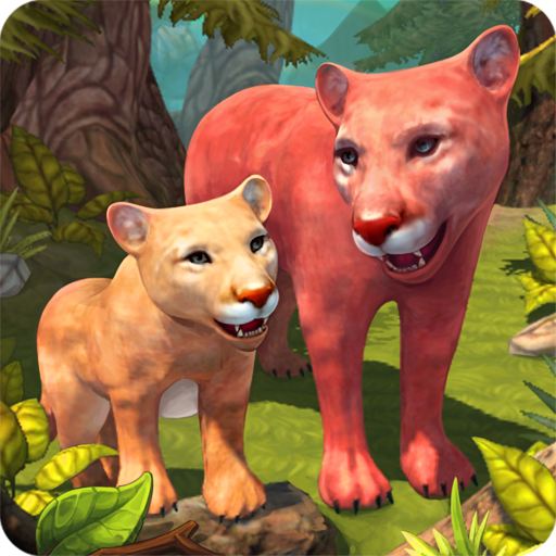 Mountain Lion Family Sim : Animal Simulator  (Unlimited money,Mod) for Android 1.8