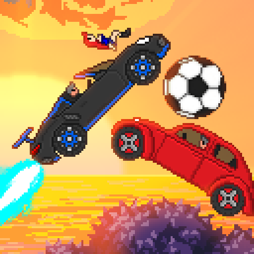 Pixel Boost League – 2D Rocket Powered Car Soccer  (Unlimited money,Mod) for Android 1.7.3