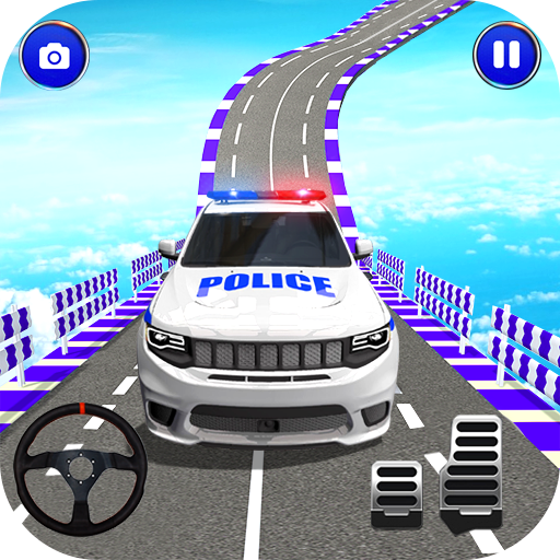 Police Spooky Jeep Stunt Game: Mega Ramp 3D  (Unlimited money,Mod) for Android 1.0