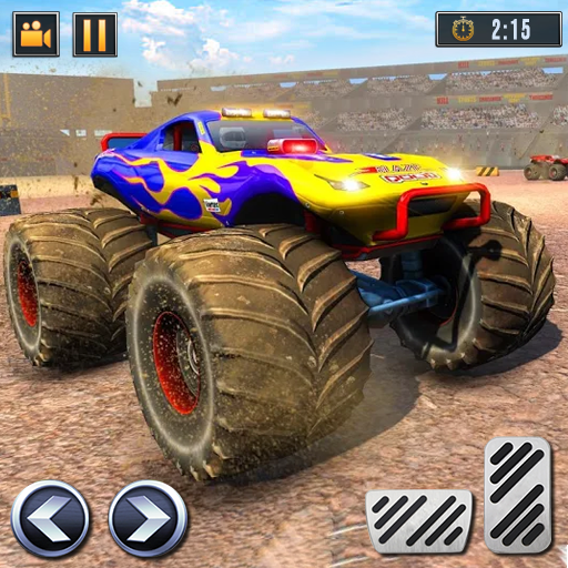 Real Monster Truck Demolition Derby Crash Stunts  (Unlimited money,Mod) for Android 3.0.8