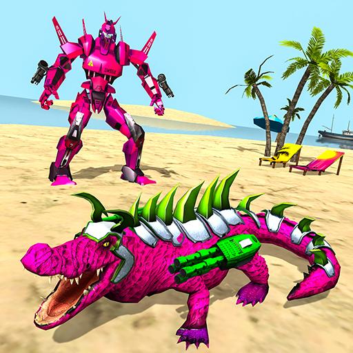 Real Robot Crocodile Simulator- Robot transform  (Unlimited money,Mod) for Android 1.0.22