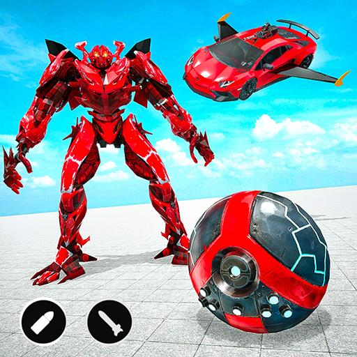 Red Ball Robot Car Transform: Flying Car Games  (Unlimited money,Mod) for Android 1.3.5