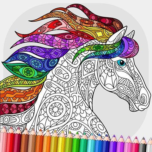 Relaxing Adult Coloring Book  (Unlimited money,Mod) for Android 2.7