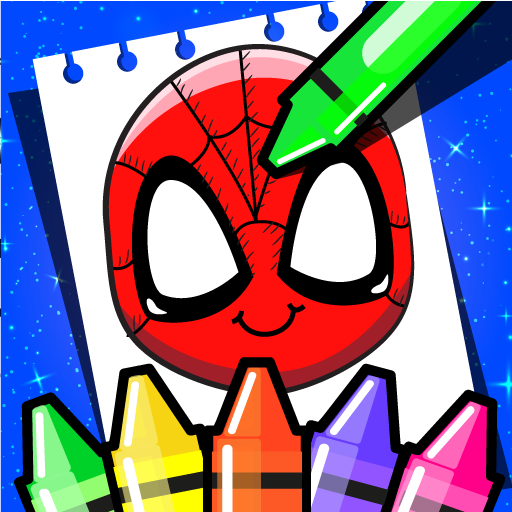 Superhero Coloring Book Game & Comics Drawing book  (Unlimited money,Mod) for Android 1.38