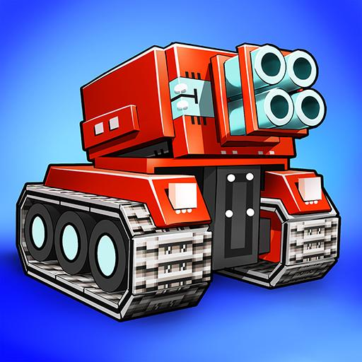 Blocky Cars – pixel shooter, tank wars  7.6.12 (Unlimited money,Mod) for Android