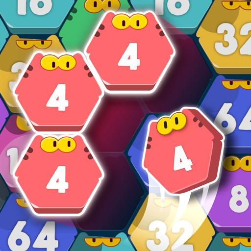 Cat Cell Connect Merge Number Hexa Blocks  1.3.1 (Unlimited money,Mod) for Android