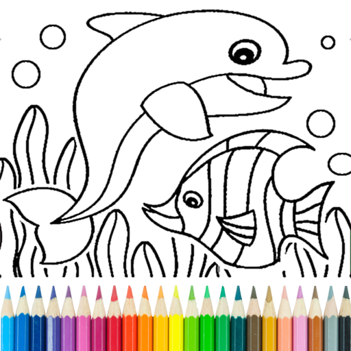 Dolphin and fish coloring book  (Unlimited money,Mod) for Android 15.3.8