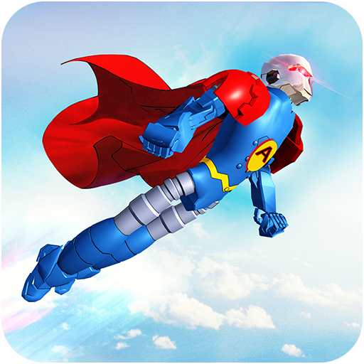 Flying Hero Robot Transform Car: Robot Games  (Unlimited money,Mod) for Android 2.1.3