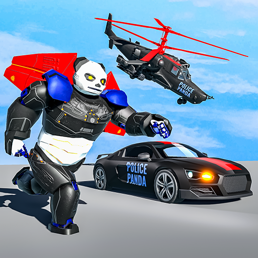 Flying Police Panda Robot Game: Robot Car Game 1.0.5 (Unlimited money,Mod) for Android