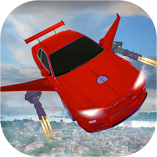 Flying car Shooting: Ultimate car Flying simulator  (Unlimited money,Mod) for Android 1.6
