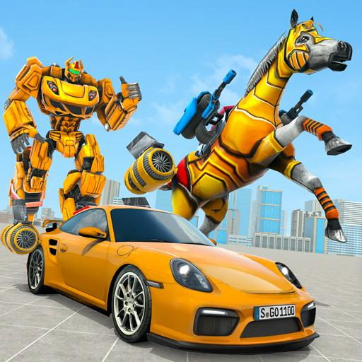 Horse Robot Transforming Game: Robot Car Game 2020 1.12 (Unlimited money,Mod) for Android