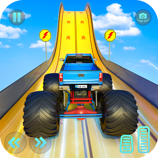Monster Truck Mega Ramp Stunts Extreme Stunt Games  (Unlimited money,Mod) for Android 1.34