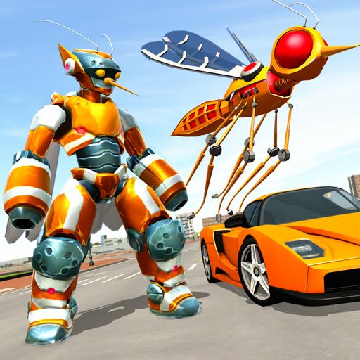 Mosquito Robot Car Game – Transforming Robot Games  (Unlimited money,Mod) for Android 1.3