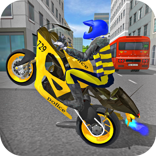 Police Motorbike Race Simulator 3D  (Unlimited money,Mod) for Android 1.0.7