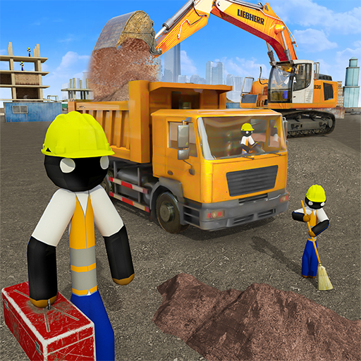 Stickman City Construction Excavator 1.5 (Unlimited money,Mod) for Android