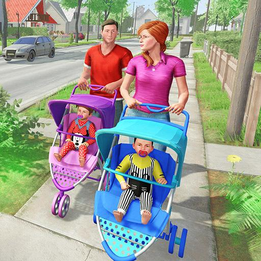 Virtual Mother New Baby Twins Family Simulator 2.1.8 (Unlimited money,Mod) for Android
