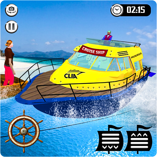 Cruise Captain: Water Boat Taxi Simulator 1.6 (Unlimited money,Mod) for Android