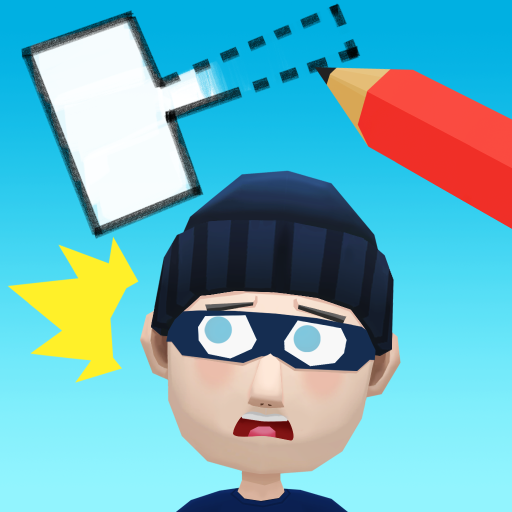 Draw & Hit: Kick the Robber! 0.1.5 (Unlimited money,Mod) for Android