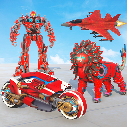 Lion Robot Transform War : Light Bike Robot Games 1.7 (Unlimited money,Mod) for Android