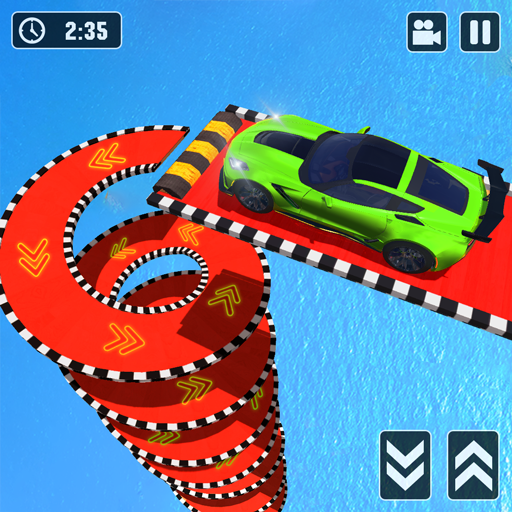 Mega Ramp Spiral Car Stunt Racing Games 2.0.8 (Unlimited money,Mod) for Android