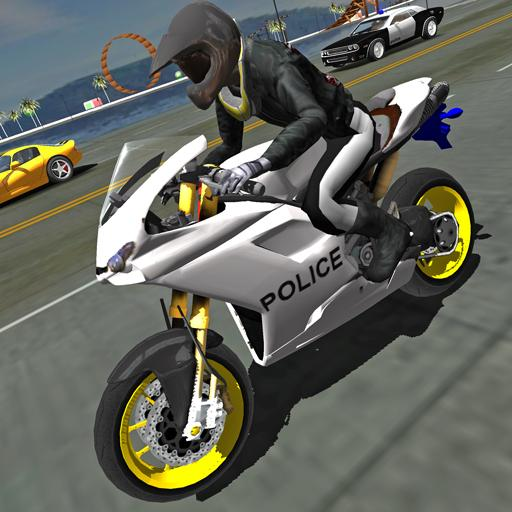 Police Motorbike Traffic Rider 1.8 (Unlimited money,Mod) for Android
