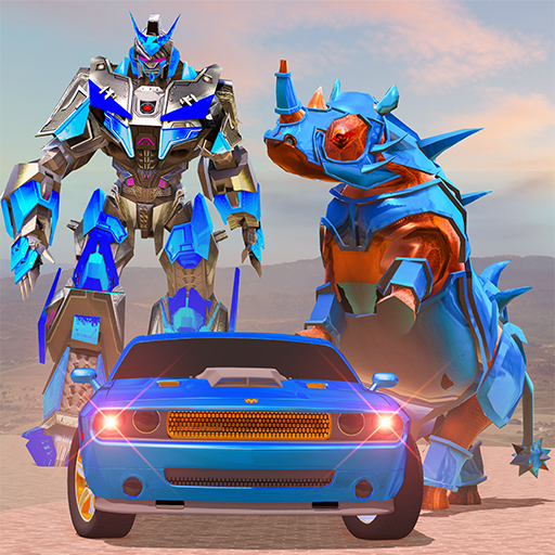 Rhino Robot Car Transformation: Robot City battle 0.6 (Unlimited money,Mod) for Android
