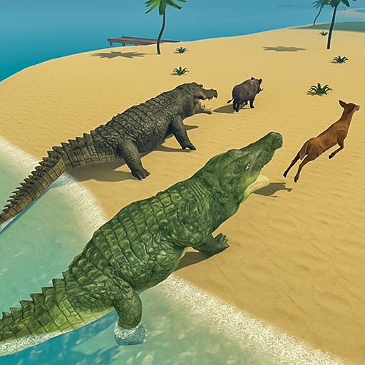 Crocodile Family Simulator Games 2021 1.0 (Unlimited money,Mod) for Android