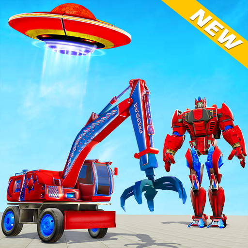 Excavator Robot Car Game – Elephant Robot Games 3d  1.2.0 (Unlimited money,Mod) for Android