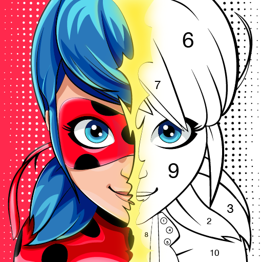 Miraculous Ladybug & Cat Noir. Color by number  1.1.2 (Unlimited money,Mod) for Android
