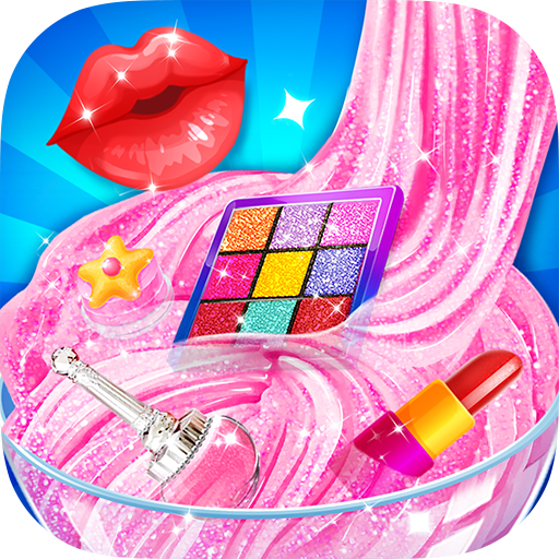 Pink Lipstick Makeup Slime 1.3 (Unlimited money,Mod) for Android