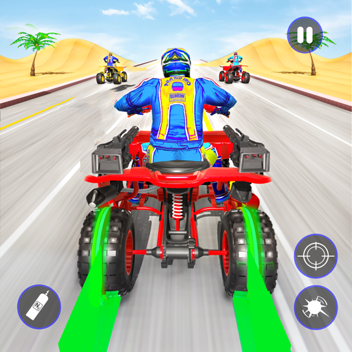 Quad Bike Traffic Shooting Games 2020: Bike Games 3.1 (Unlimited money,Mod) for Android