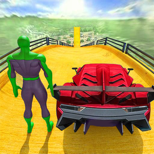 Superhero Car Stunts – Racing Car Games 1.6 (Unlimited money,Mod) for Android