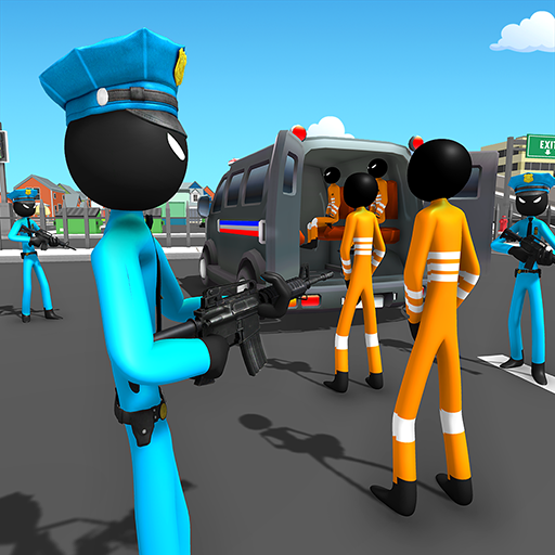 US Police Stickman Criminal Plane Transporter Game 4.7 (Unlimited money,Mod) for Android