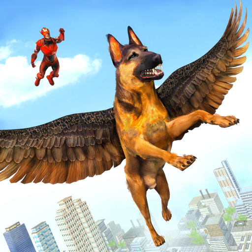 Flying Super Hero Dog City Animal Rescue 1.0.11 (Unlimited money,Mod) for Android