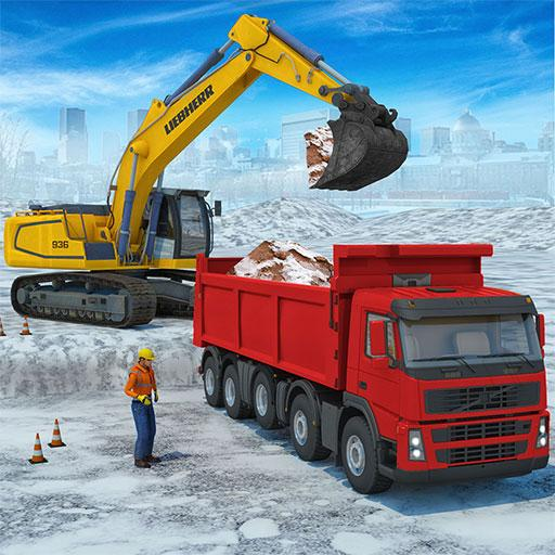 Snow excavator & road construction games 2020 1.4 (Unlimited money,Mod) for Android