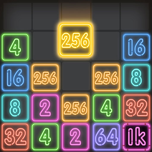 Drop Number : Neon 2048  (Unlimited money,Mod) for Android