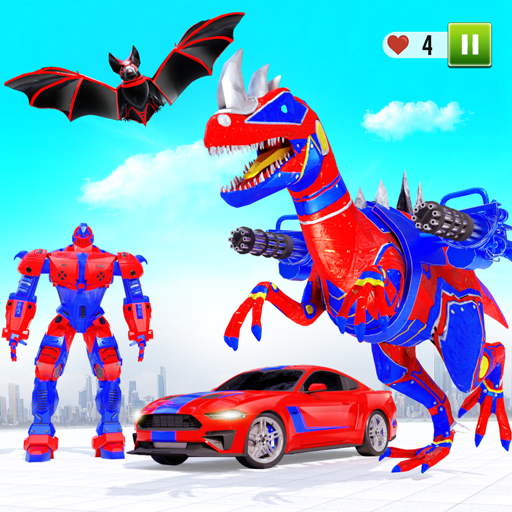 Flying Dino Transform Robot: Dinosaur Robot Games 11 (Unlimited money,Mod) for Android