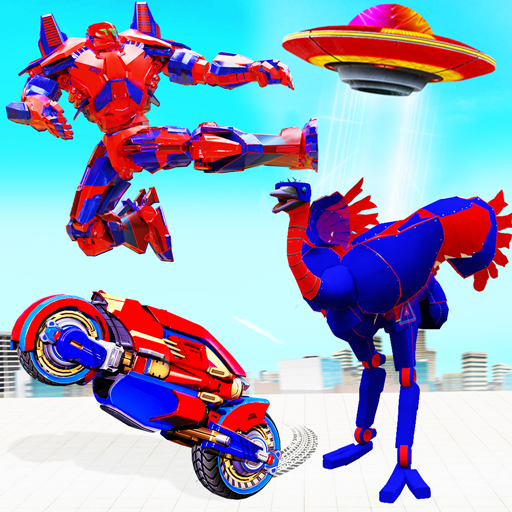 Flying Ostrich Robot Transform Bike Robot Games 38 (Unlimited money,Mod) for Android