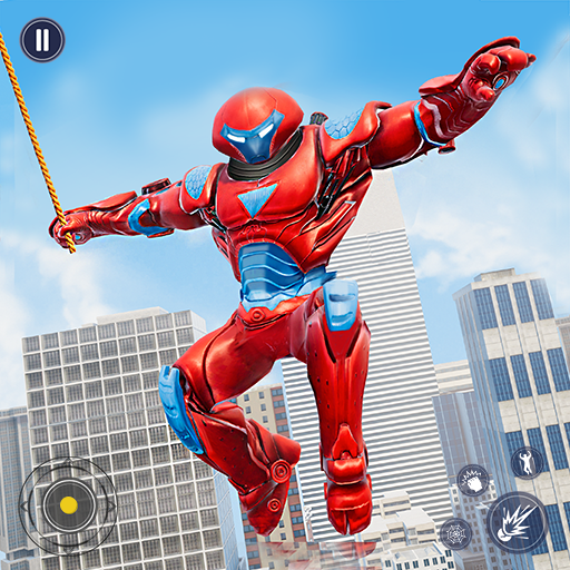 Flying Police Monster Robot Rope Hero: Crime City  (Unlimited money,Mod) for Android